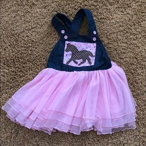 Mud Pie Cowgirl Overall Dress